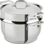 All-Clad 3 Ply Stainless Steel 5-Quart Steamer Pot