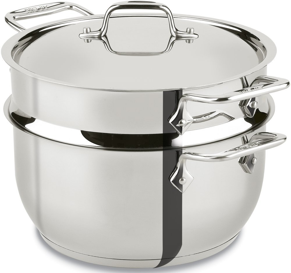 All-Clad E414S564 stainless steel 5-Quart steamer cookware