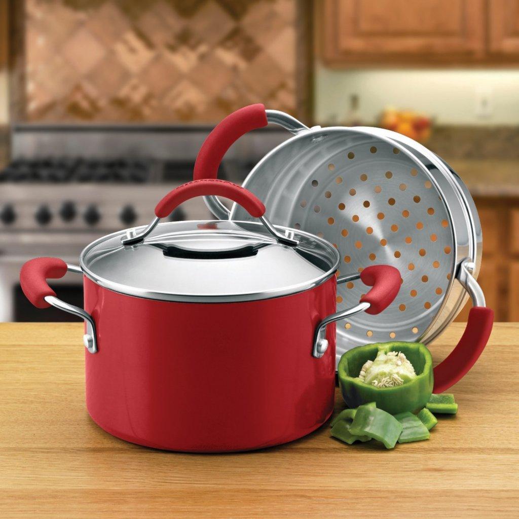 KitchenAid heavy gauge aluminum pot with stainless steel steamer insert
