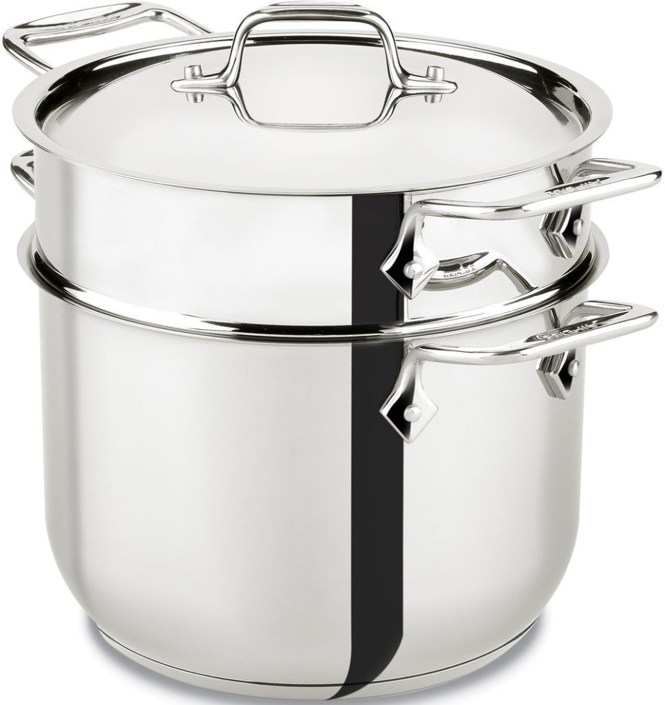 All-Clad stainless steel 6-quart pasta pot insert feature image