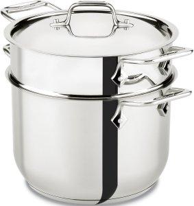 All-Clad stainless steel 6-quart pasta pot & steamer insert cookware