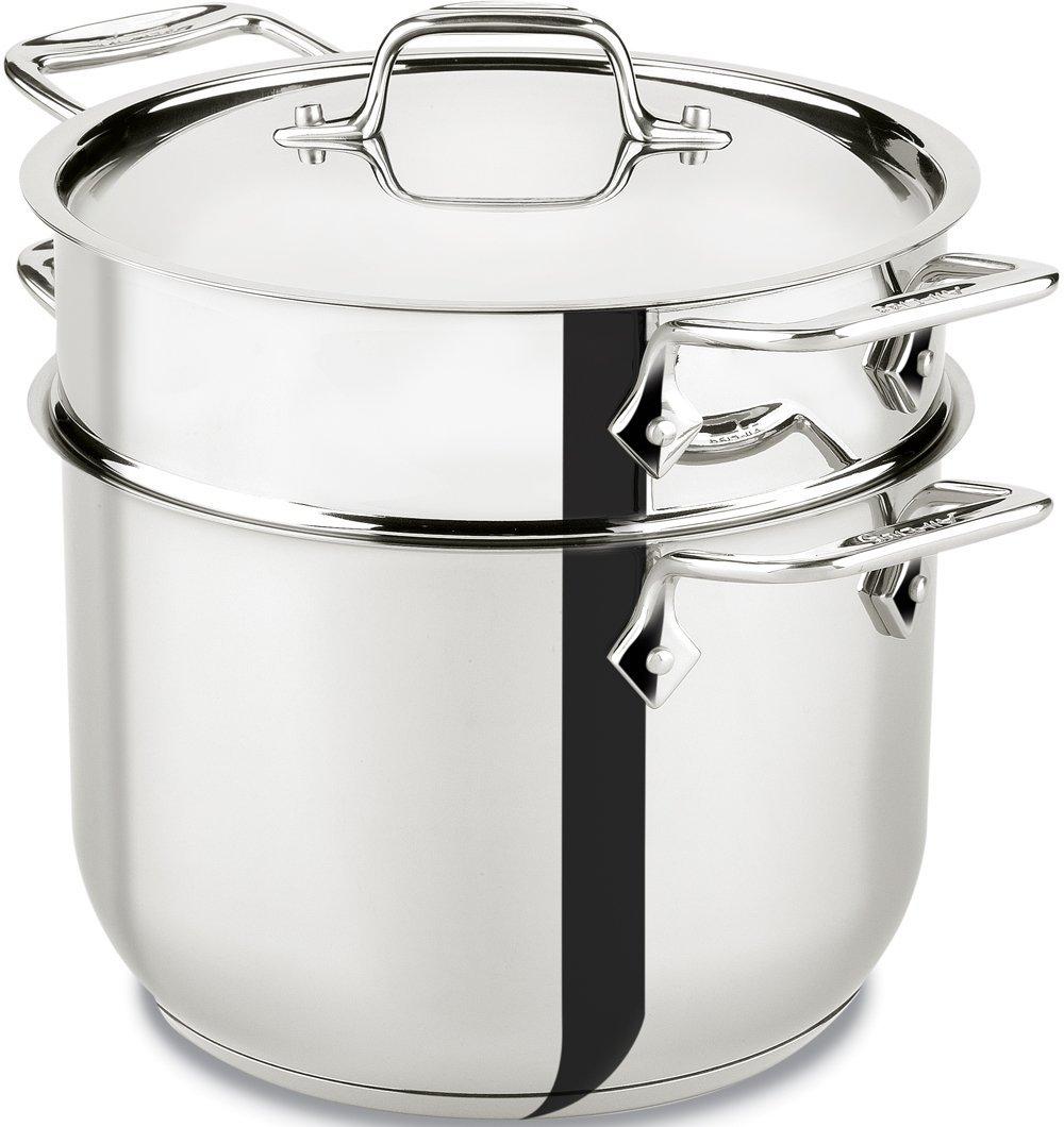 All clad stainless steel quart pasta pot steamer