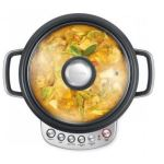 Breville risotto plus slow rice cooker with vented glass lid cooks hearty chicken soup