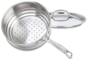 Cuisinart stainless steel universal steamer insert with cover