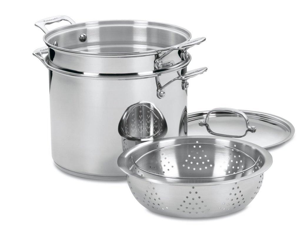 Cuisinart classic stainless 4-piece 12-quart stock pot pasta steamer
