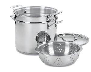 Cuisinart classic stainless 4-piece 12-quart stock pot pasta steamer