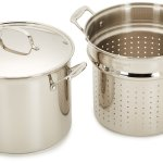 Cuisinart stainless steel 4-piece 12-quart stock pot pasta set