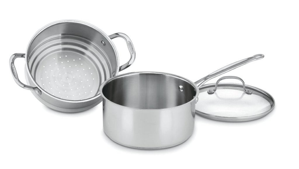 Cuisinart chef's classic stainless 3-piece 3-quart steamer set