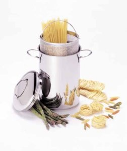Demeyere Resto 4.7-quart asparagus pasta cooker pot for induction