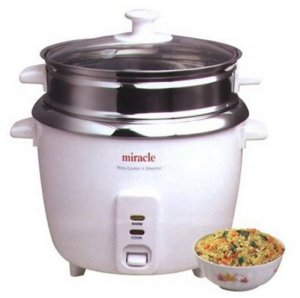 Miracle exclusives stainless steel rice cooker steamer ME81