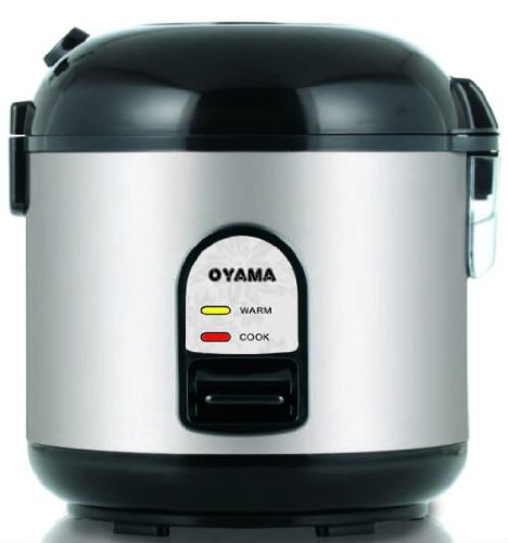 Oyama stainless steel rice cooker and steamer with stainless pot bowl