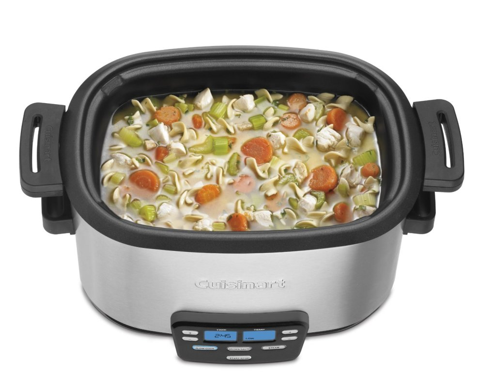 cooking soup in Cuisinart 3-In-1 cook central 6-quart multi-cooker slow cooker