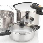 Fagor Duo 5-Piece Pressure Cooker Steamer Set