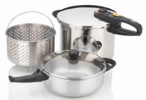 Fagor Duo Combi 5-piece pressure cooker steamer pasta set