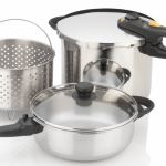 fagor duo combi 5 piece pressure cooker steamer pasta set feature image