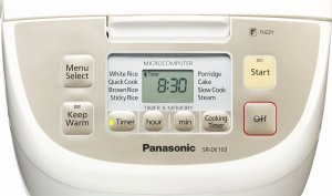 Panasonic Fuzzy Logic rice cooker with micro computerized control panel