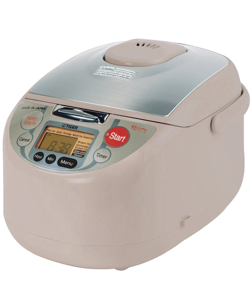 Tiger JAH-T18U Micom 10-Cup rice cooker with 3 in1 computerized cooking controls