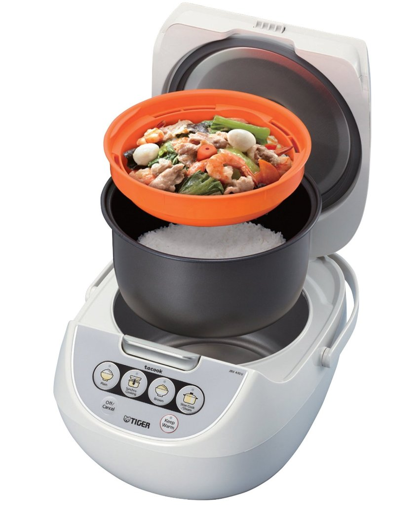 Tiger Micom 5.5-Cup Rice Cooker with Steamer tray