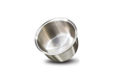 stainless steel inner bowl with aluminum core for great heat conductivity