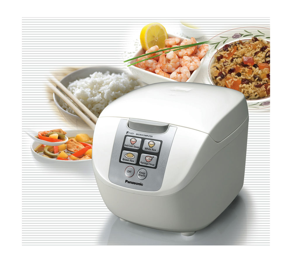 Panasonic SR-DF181 10-cup Fuzzy Logic rice cooker cooks various dishes