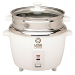 Lotus Foods 12 Cup Rice Cooker Steamer with Stainless Steel Inner Bowl Pot