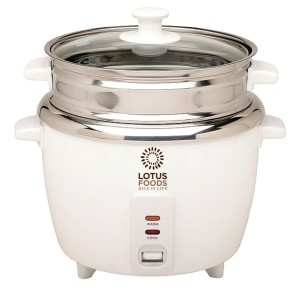 lotus foods rice cooker steamer with stainless steel inner pot original image