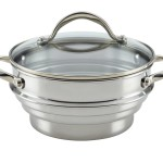 Anolon 77447 Stainless Steel Universal Food Steamer Insert with Glass Lid