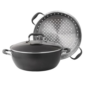 Merveilleux Anolon Advanced Hard Anodized 7.5 Qt Stock Pot Steamer Cookware