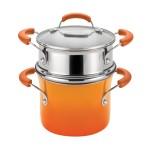 Rachael Ray Porcelain Enamel 3-Quart Steamer Pot