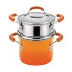 Rachael Ray porcelain enamel 3-quart steamer set image