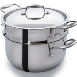 Culina 18/10 Stainless Steel 5 Qt Pot with Steamer Insert