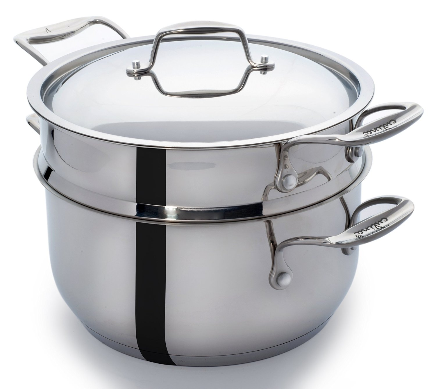 Cooking Pot Steamer ~ Culina stainless steel qt pot with steamer insert