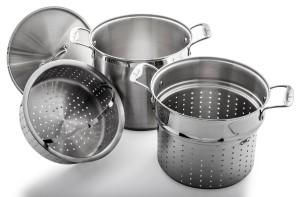Culina stainless steel 12 quart multi cooker pasta pot steamer