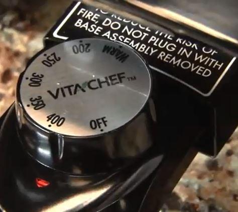 VitaChef electric multi cooker skillet temperature range