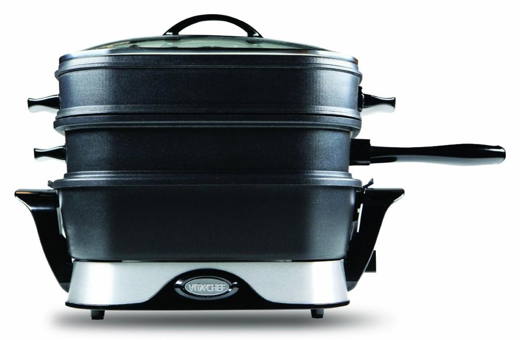 VitaChef electric multi cooker steamer skillet