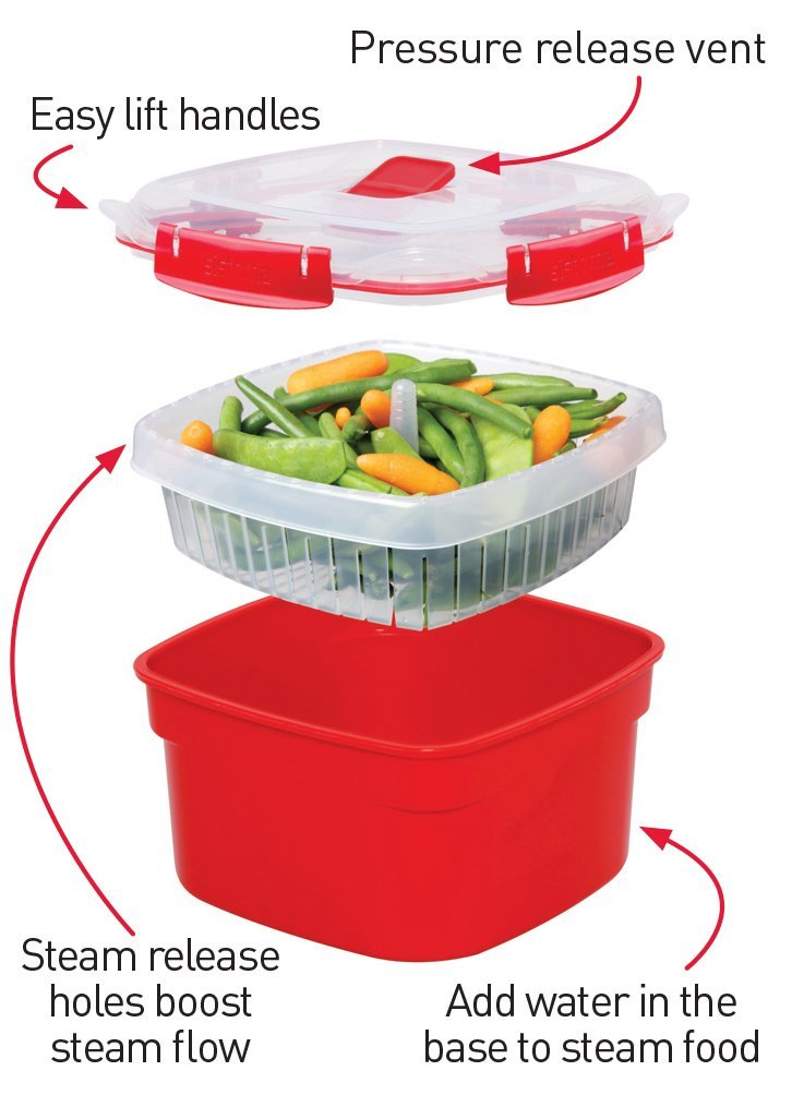 How Sistema microwave steamer works