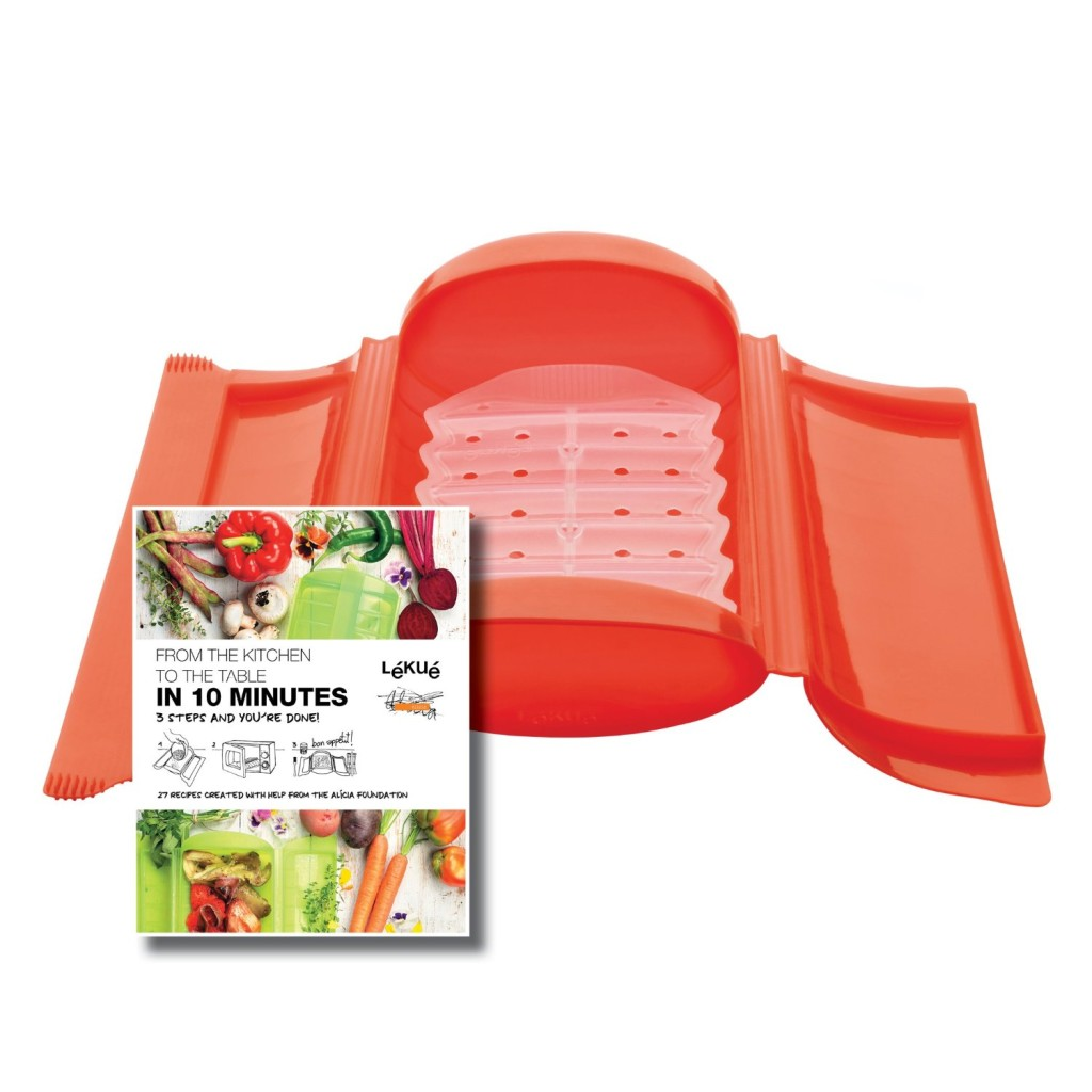Lekue silicone microwave and oven steamer