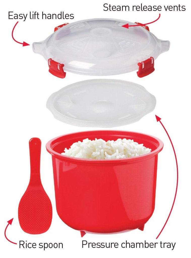 How Sistema rice microwave steamer multicooker works