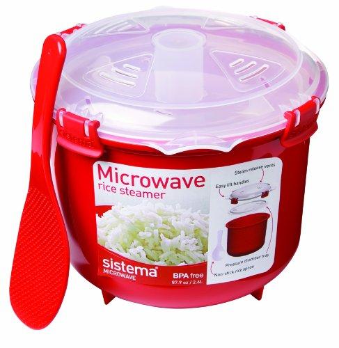 BPA FREE Sistema rice microwave steamer multi cooker