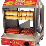 Hot Dog Steamer Machine for Commercial and Home Use in Convenience Stores, Home parties, Family Meetings, Fast Food Restaurants, Concession Stands, Events, Kiosk, Cafeterias, Rental Shops, Ballpark, Fairs and Snack Bars