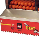Commercial Paragon Hut hot dog steamer cooking controls