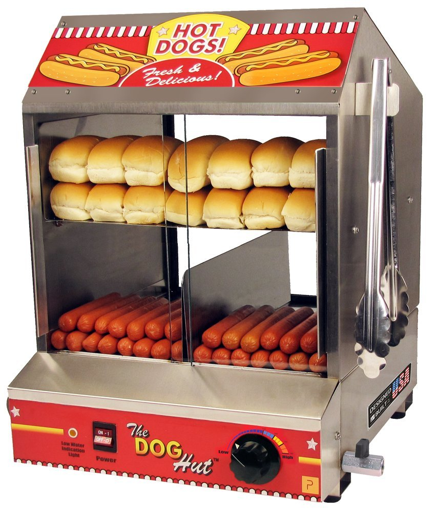 Commercial Paragon Hut hot dog steamer