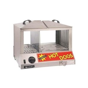 Adcraft stainless steel commercial hot dog steamer bun warmer