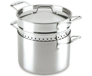 Lagostina 6-Quart Stainless Steel Pasta Pot with pasta insert