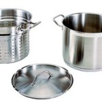Update International Induction 12 Quart Stainless Steel Pasta Pot with Strainer