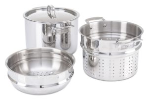 Viking 8 quart Stainless Steel Pasta Pot with Strainer Steamer