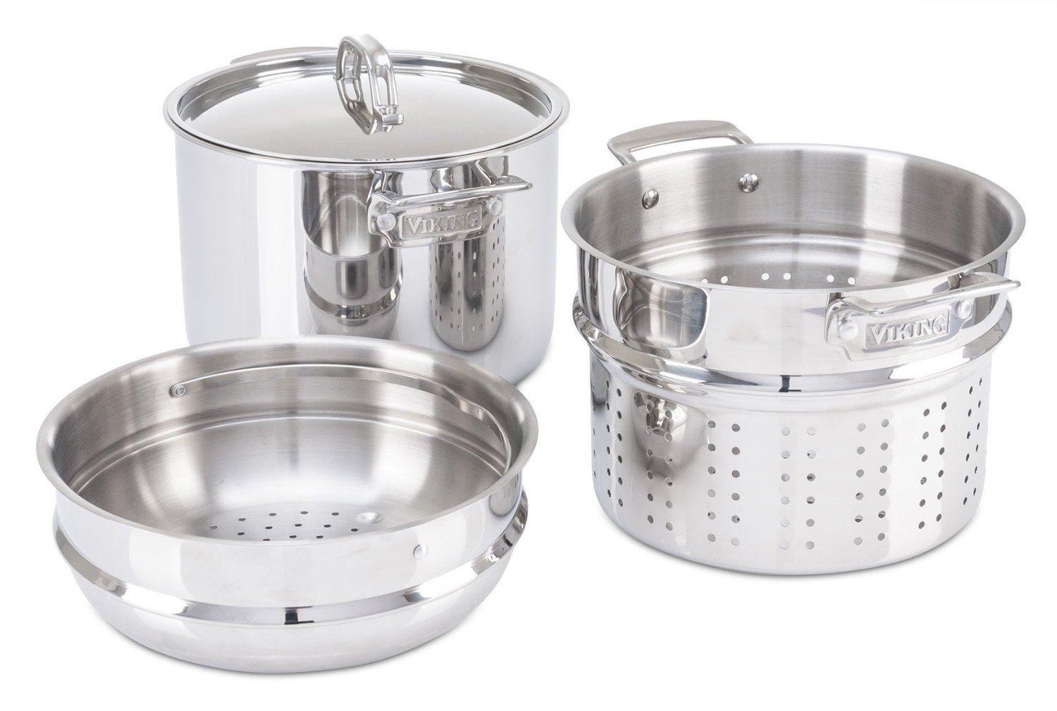 Viking 8 Qt 18 8 Stainless Steel Pasta Pot With Strainer