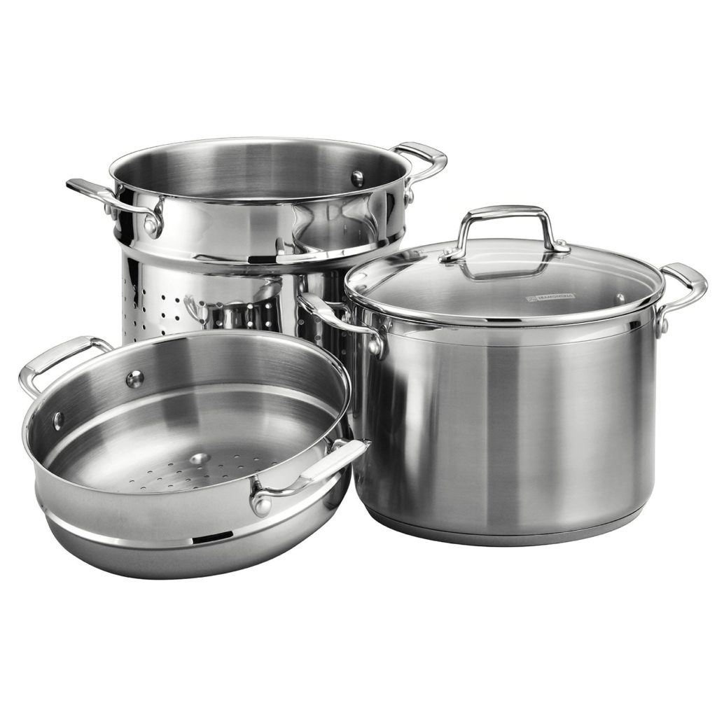 tramontina 8 quart stainless steel pasta cooker pot