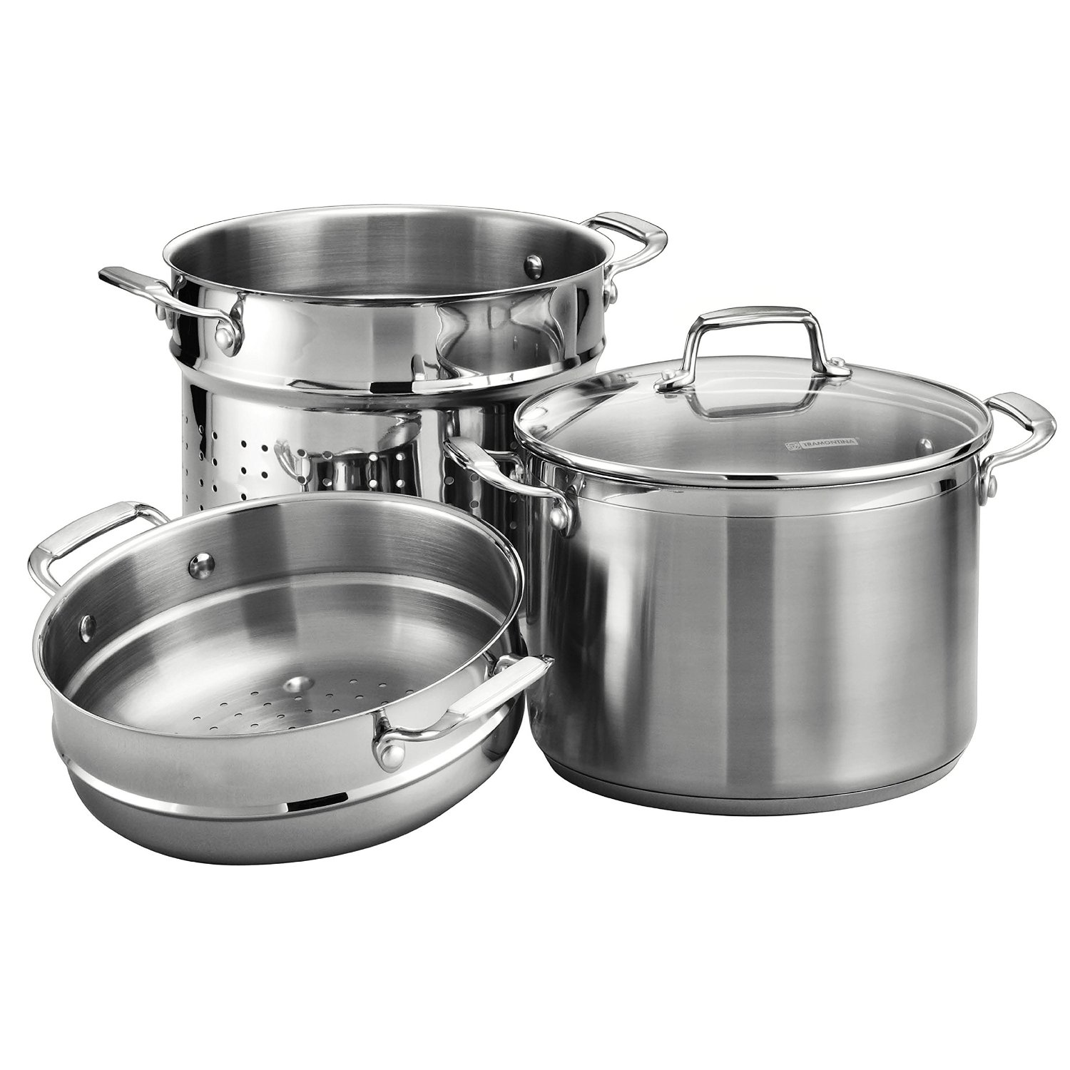 Tramontina 8 Quart Stainless Steel Pasta Pot Cooker