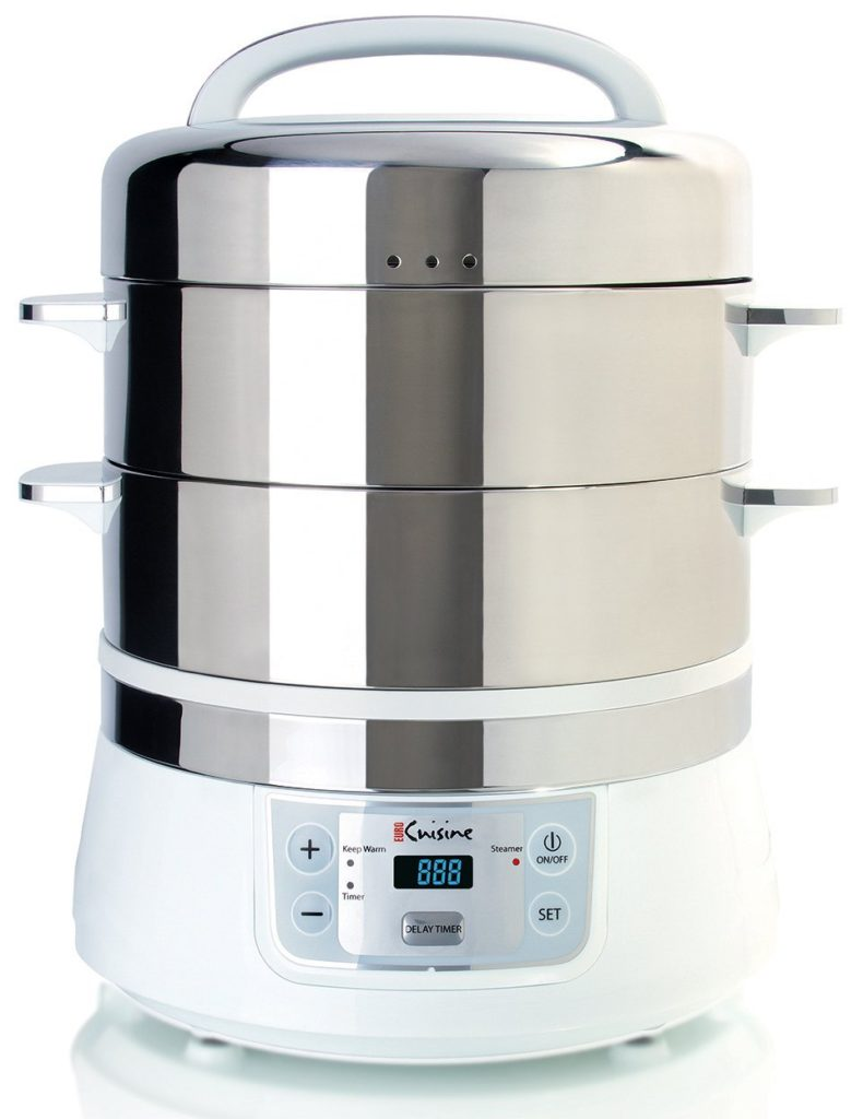Euro Cuisine FS2500 Electric 2 tier Stainless Steel Food Steamer
